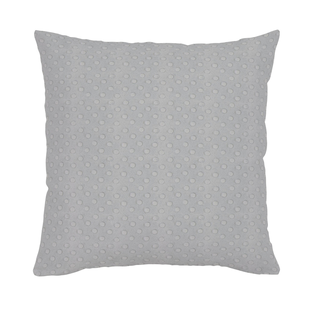 Product image for Silver Dimpled Minky Throw Pillow