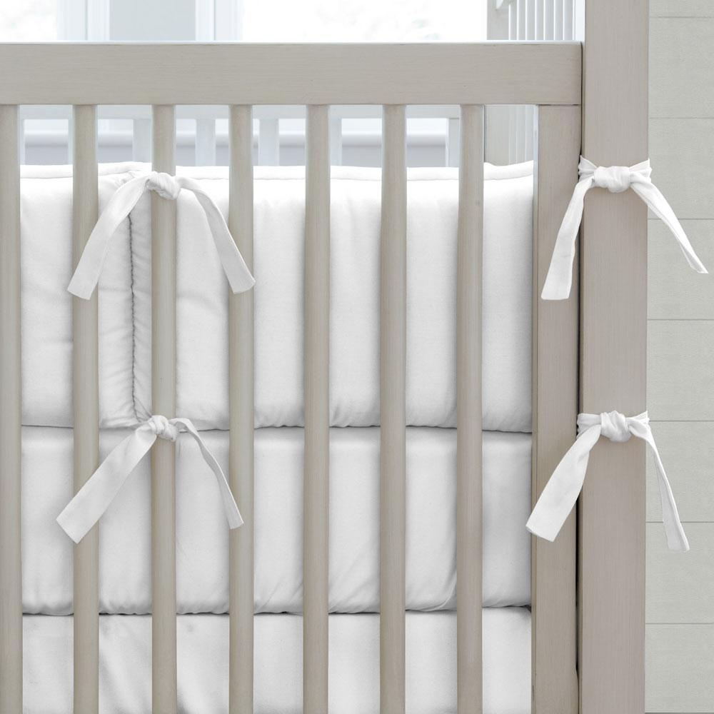 Product image for Solid White Crib Bumper
