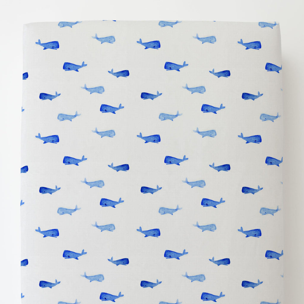 Product image for Whale of a Tale Toddler Sheet Bottom Fitted