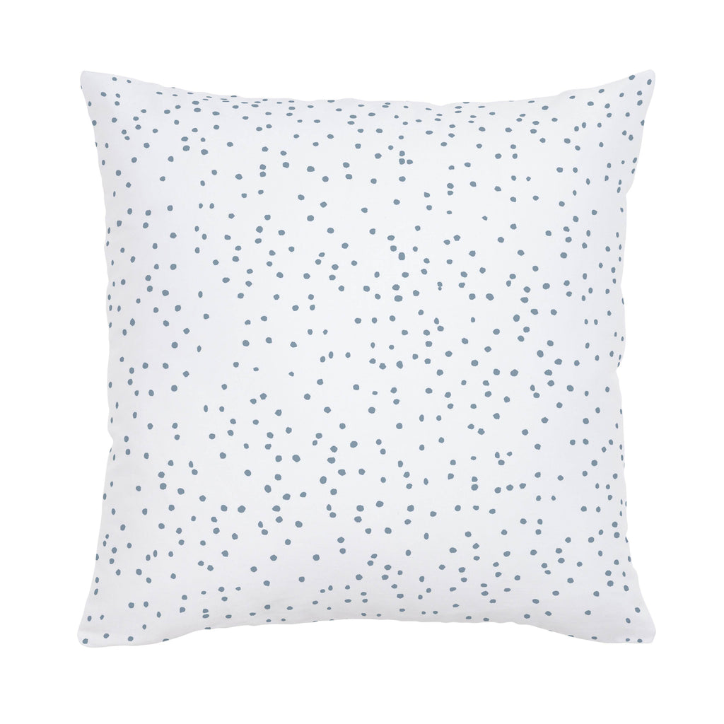 Product image for Steel Blue Snowfall Throw Pillow