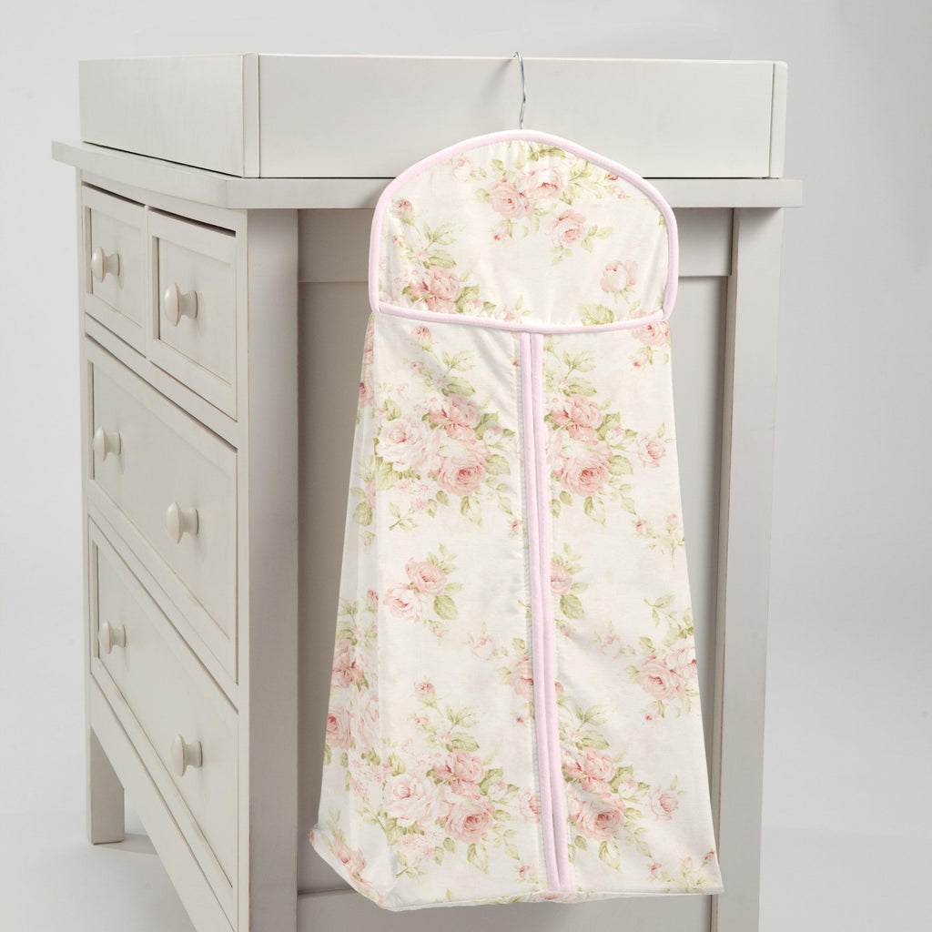 Product image for Pink Floral Diaper Stacker