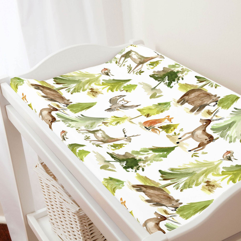 Product image for Painted Forest Changing Pad Cover