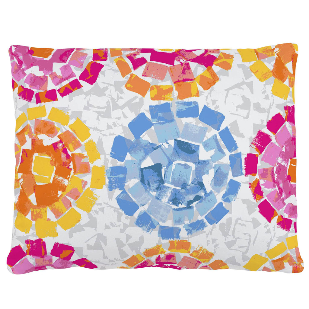 Product image for Pink and Blue Modern Mosaic Accent Pillow