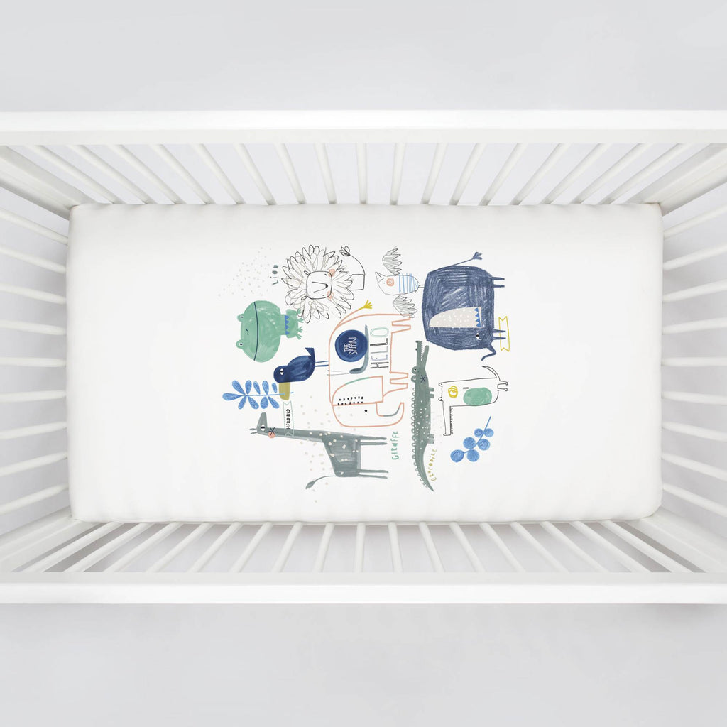 Product image for Safari Friends Centerpiece Crib Sheet