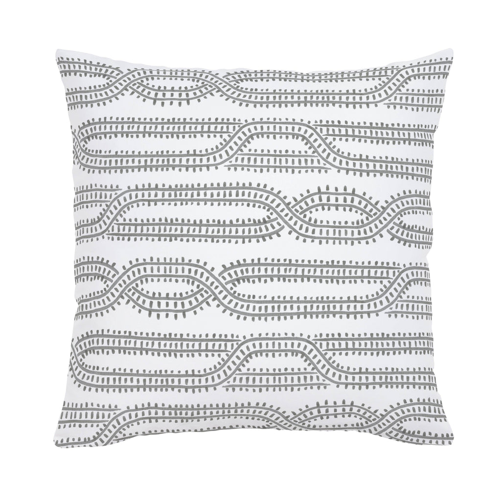Product image for Gray Train Tracks Throw Pillow