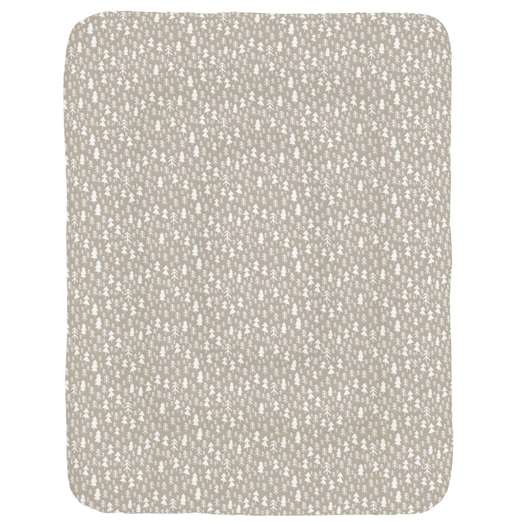 Product image for Taupe Baby Woodland Trees Crib Comforter