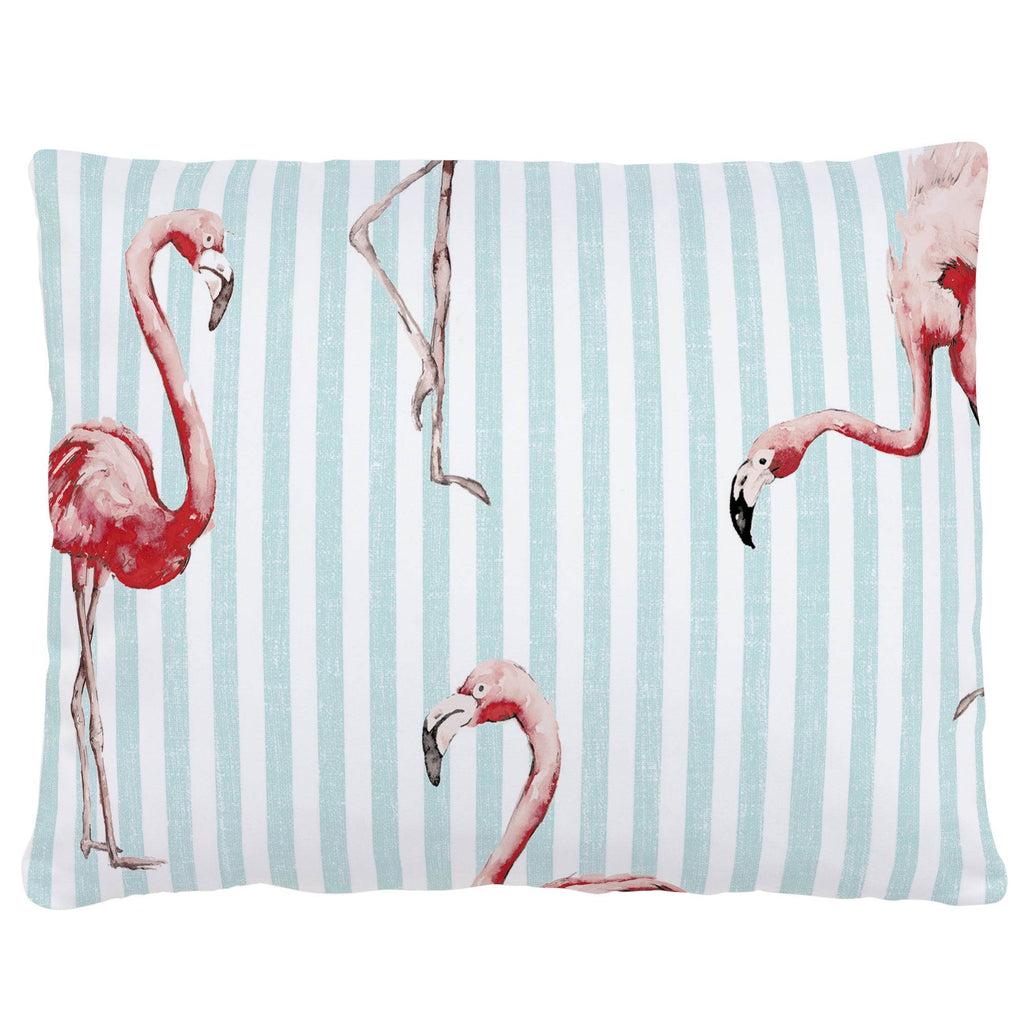 Product image for Flamingo Stripe Accent Pillow