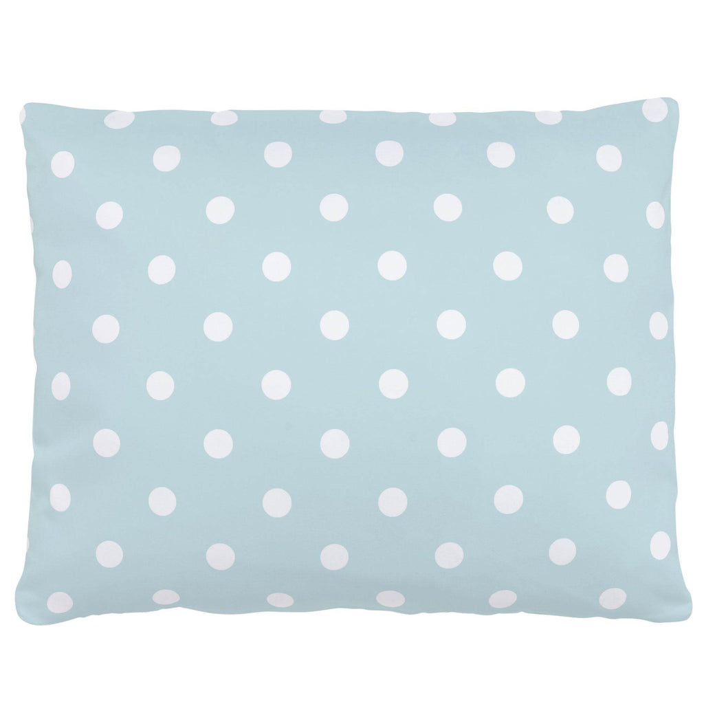 Product image for Mist and White Polka Dot Accent Pillow