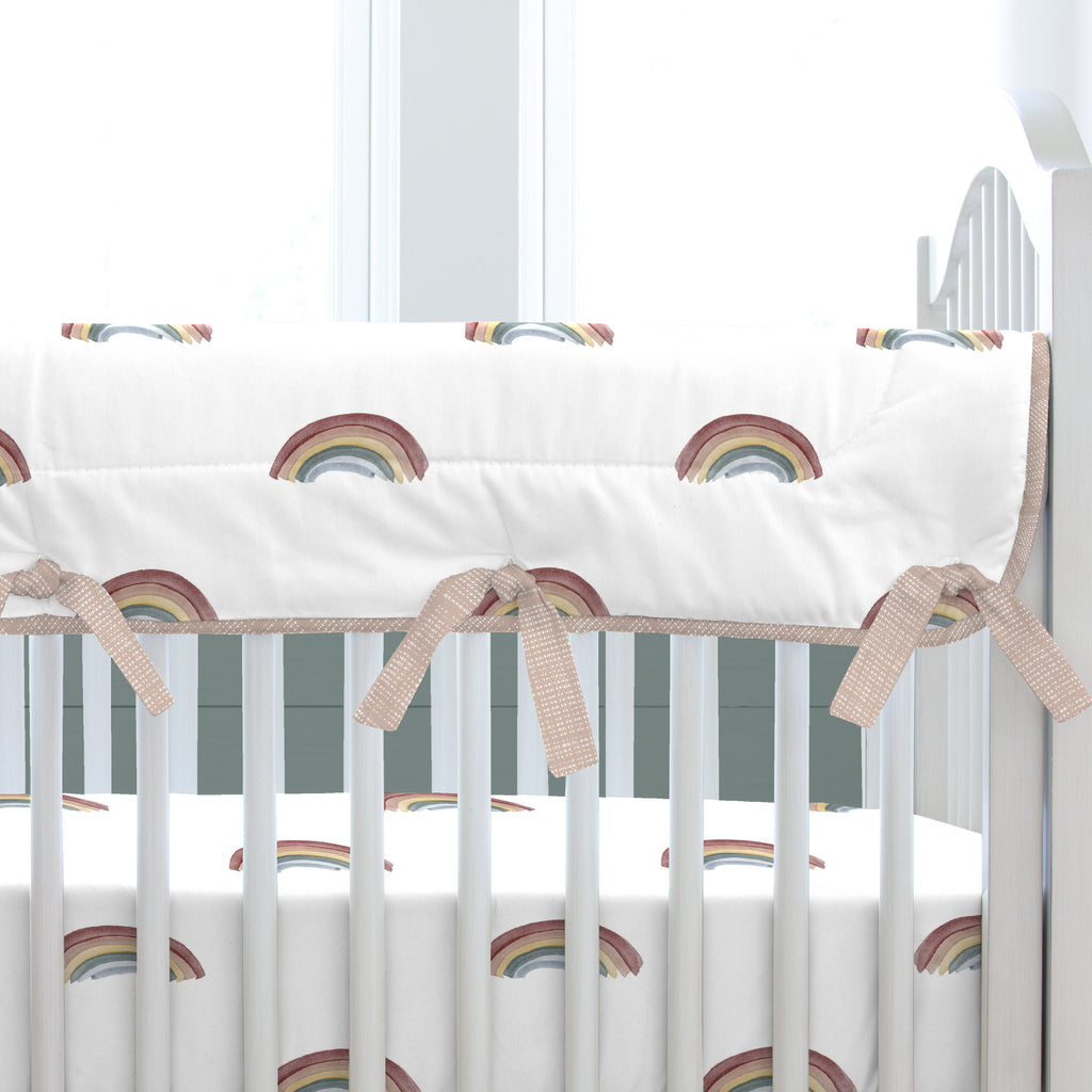 Product image for Soft Rainbows Crib Rail Cover