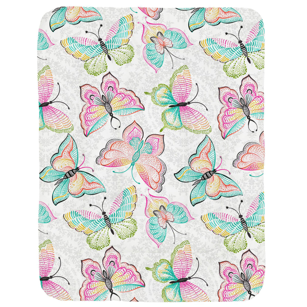 Product image for Bright Damask Butterflies Crib Comforter
