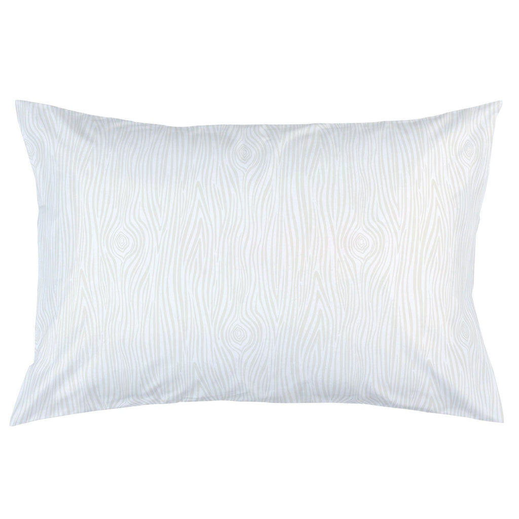 Product image for Ivory Woodgrain Pillow Case