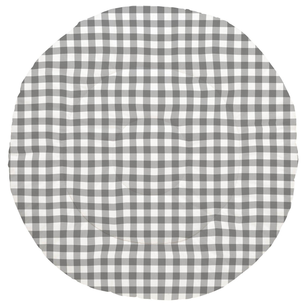 Product image for Gray Gingham Baby Play Mat