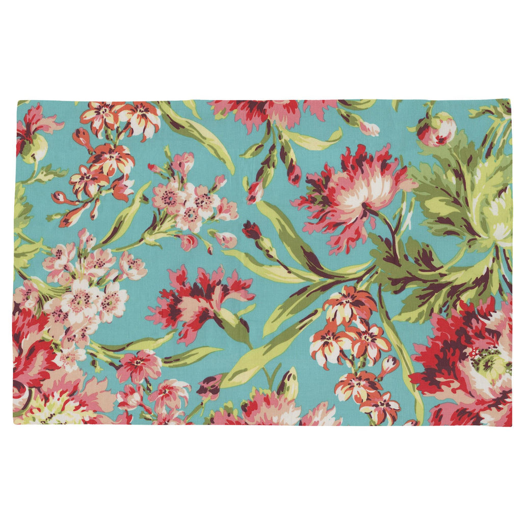 Product image for Coral and Teal Floral Toddler Pillow Case