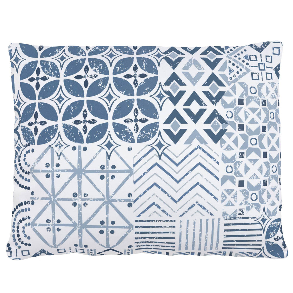 Product image for Denim Patchwork Accent Pillow