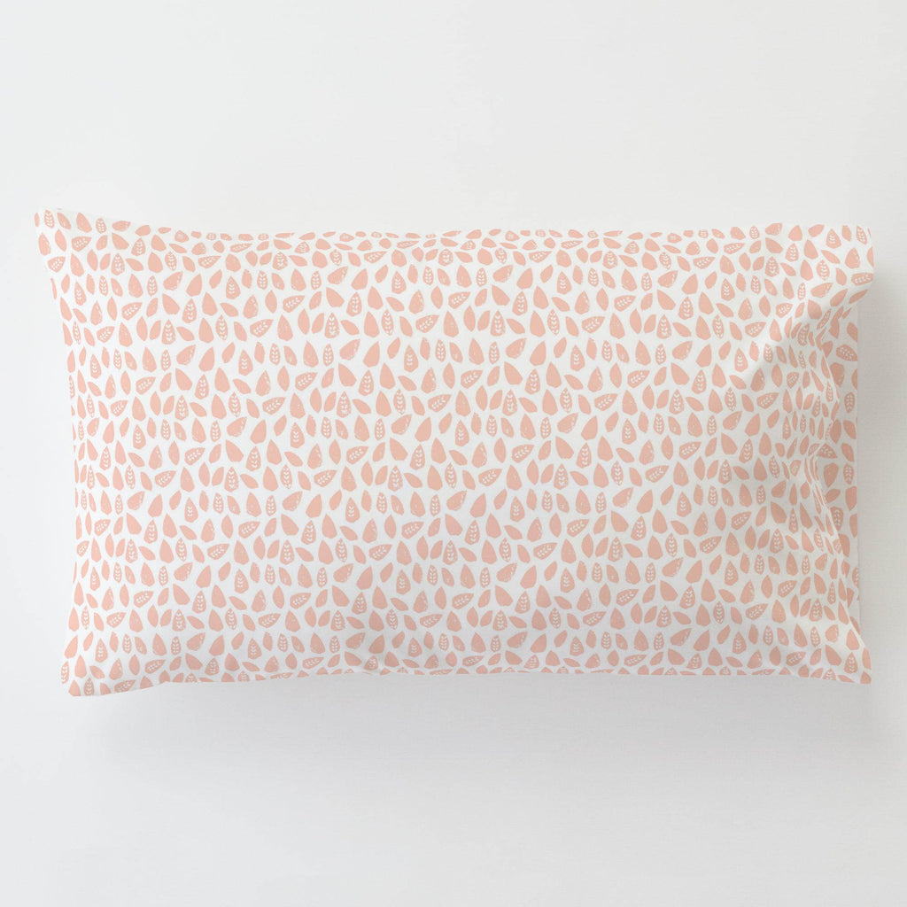 Product image for Peach Woodland Leaf Toddler Pillow Case with Pillow Insert