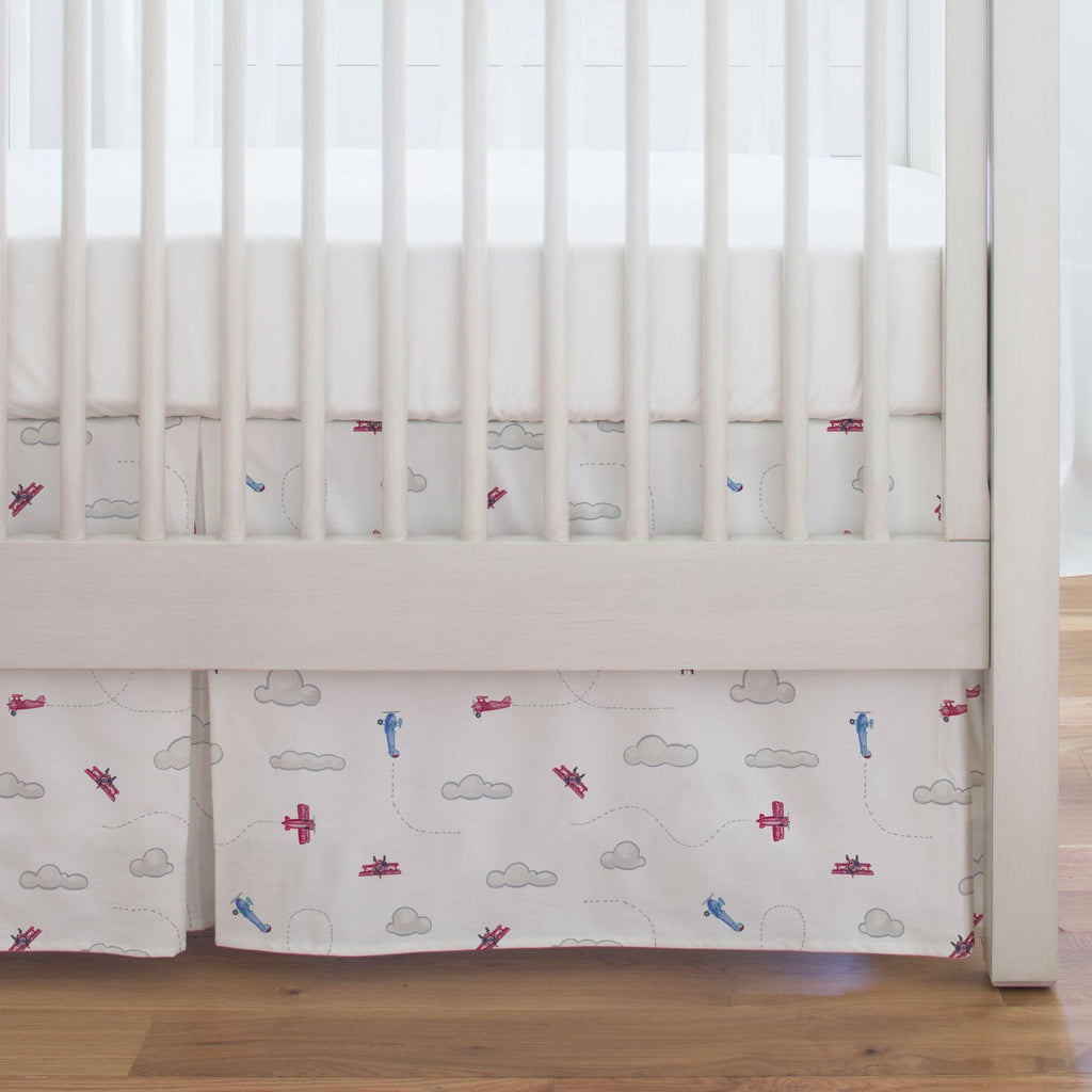 Product image for Take Flight Crib Skirt Single-Pleat