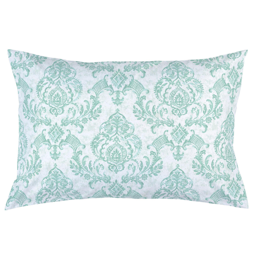 Product image for Mint Painted Damask Pillow Case