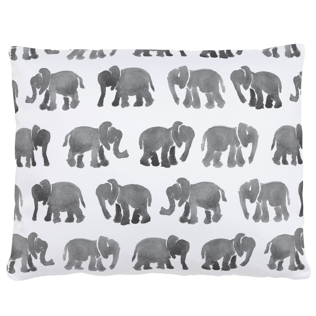 Product image for Gray Watercolor Elephants Accent Pillow