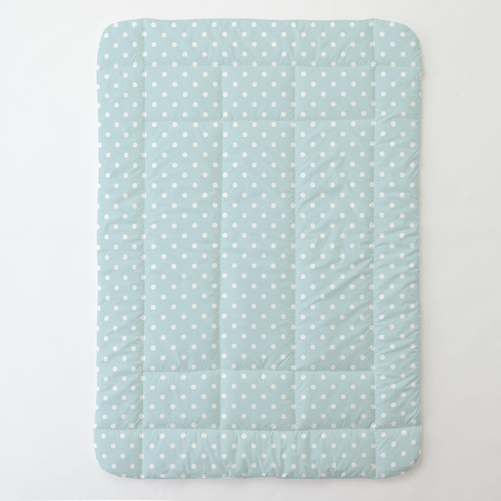 Product image for Mist and White Polka Dot Toddler Comforter