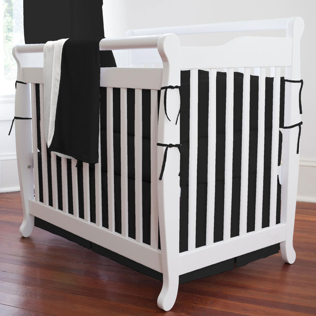 Product image for Solid Black Mini Crib Bumper