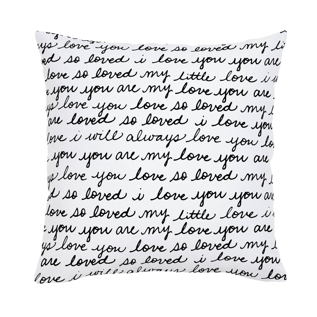 Product image for Onyx Love Words Throw Pillow