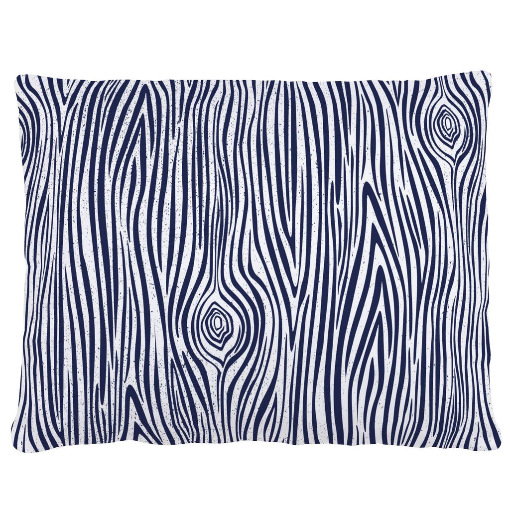 Product image for Navy Woodgrain Accent Pillow