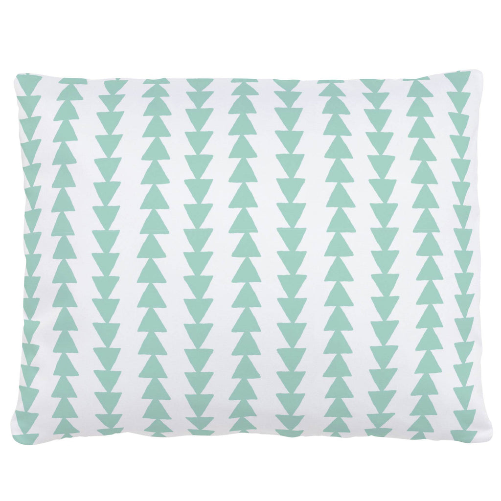 Product image for Mint Arrow Stripe Accent Pillow