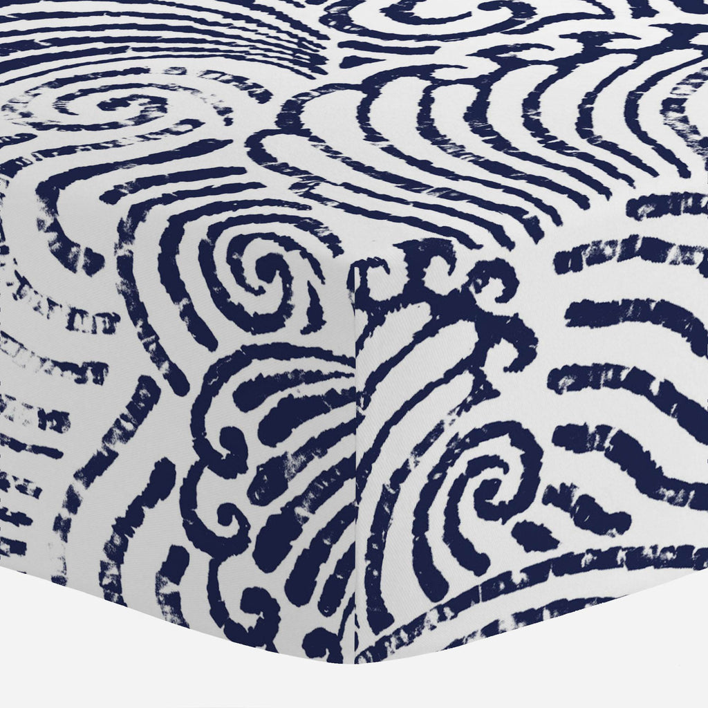 Product image for Navy Seas Crib Sheet
