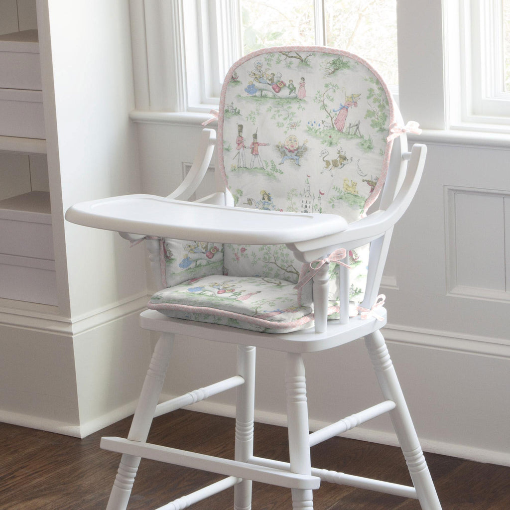 Product image for Pink and Nursery Rhyme Toile High Chair Pad