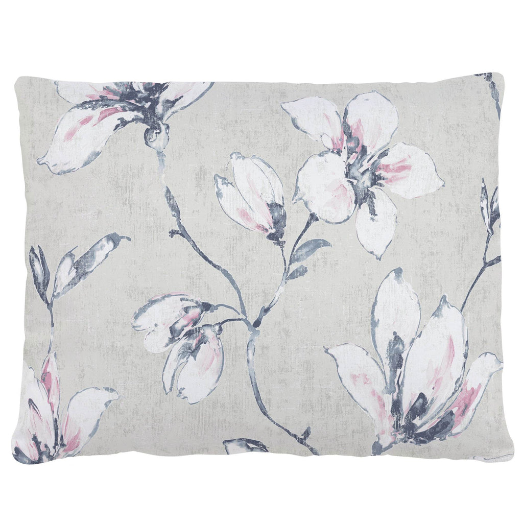 Product image for Pink and Blue Painted Lilies Accent Pillow