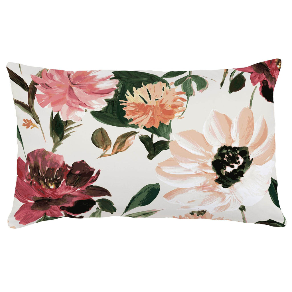 Product image for Moody Floral Lumbar Pillow
