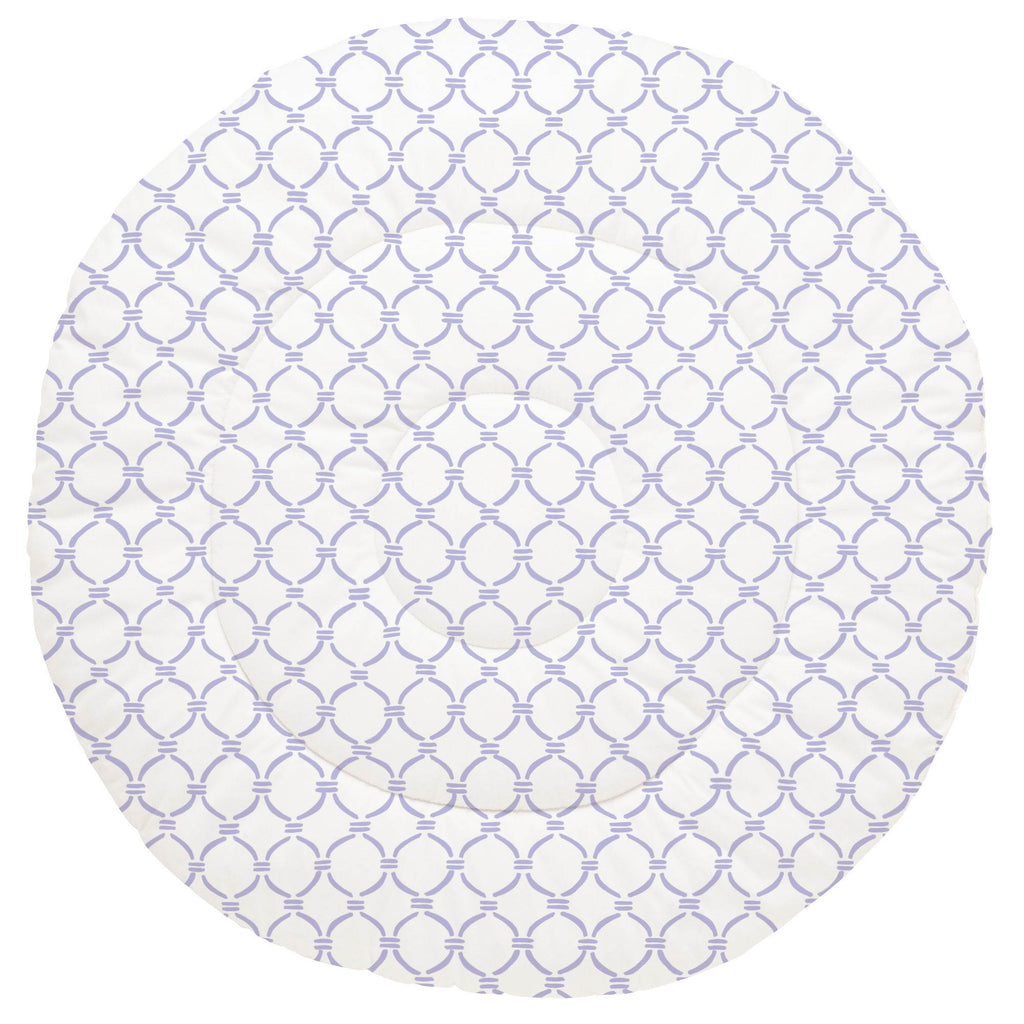 Product image for Lilac Lattice Circles Baby Play Mat