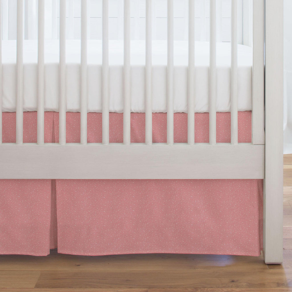 Product image for Coral Pink Heather Crib Skirt Single-Pleat