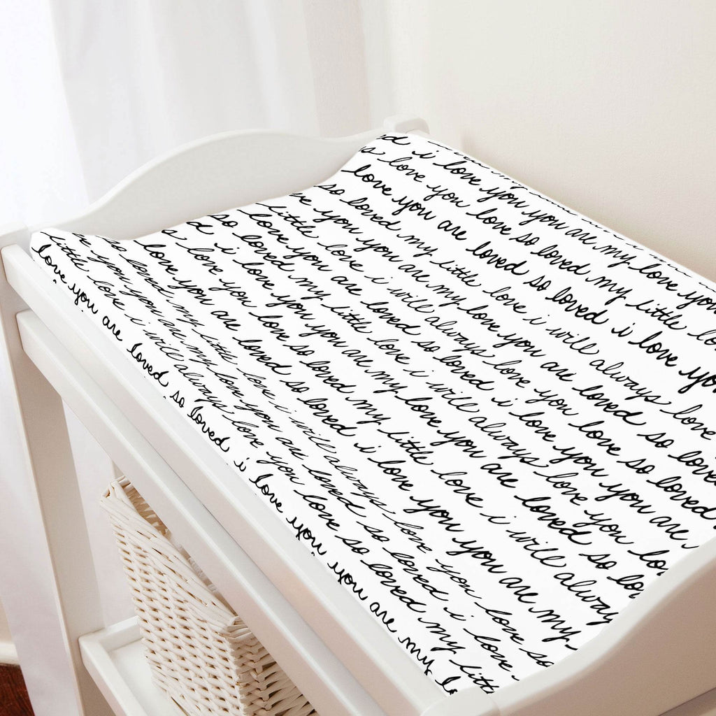 Product image for Onyx Love Words Changing Pad Cover