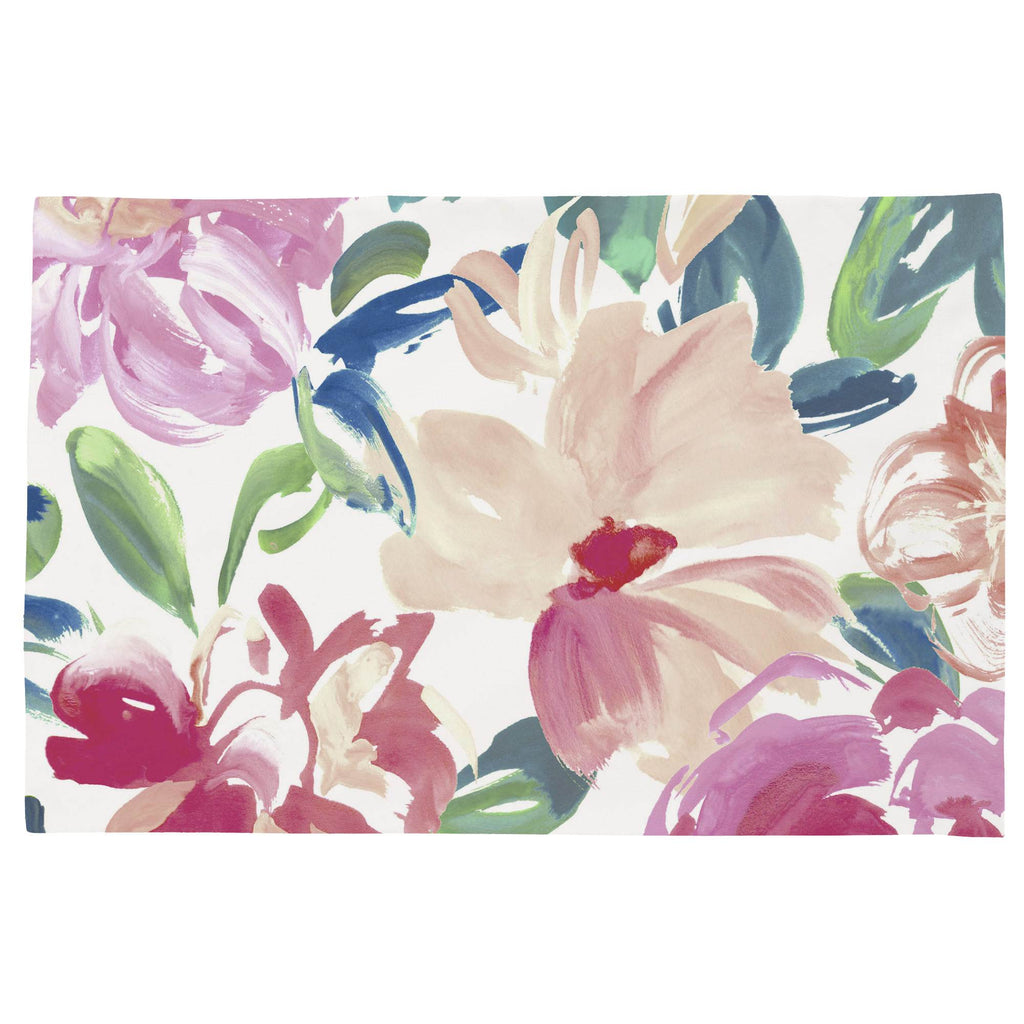 Product image for Pink Brushstroke Floral Toddler Pillow Case