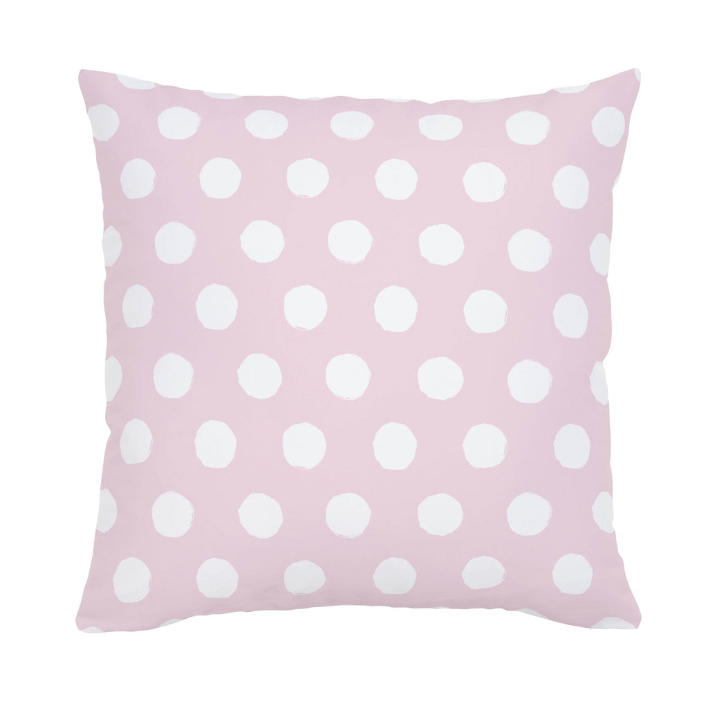 Product image for Pink and White Brush Dots Throw Pillow