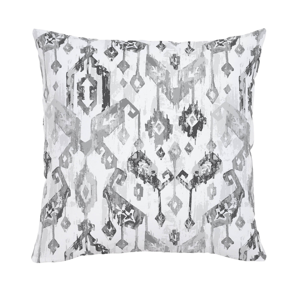 Product image for Gray Tribal Ikat Throw Pillow