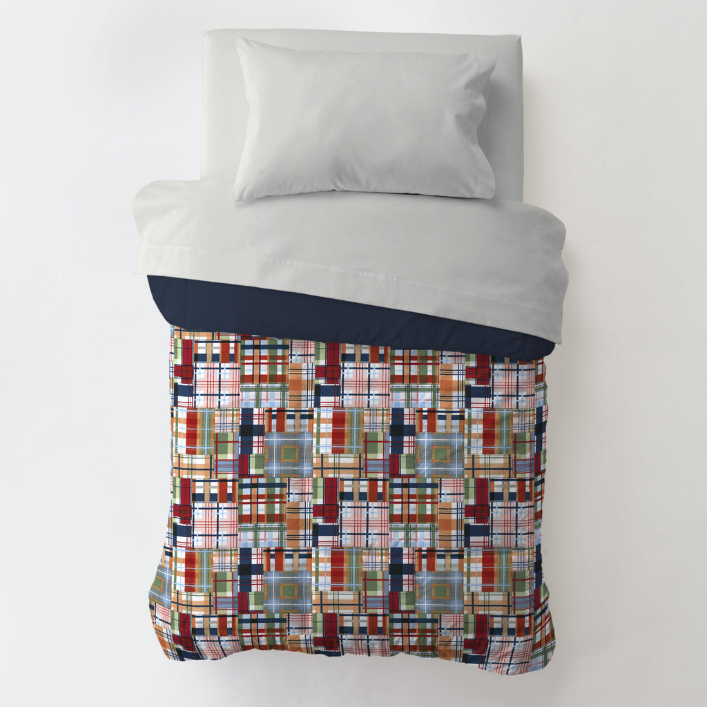Product image for Patchwork Plaid Toddler Comforter