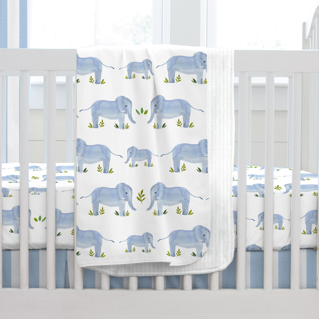 Product image for Painted Elephants Baby Blanket