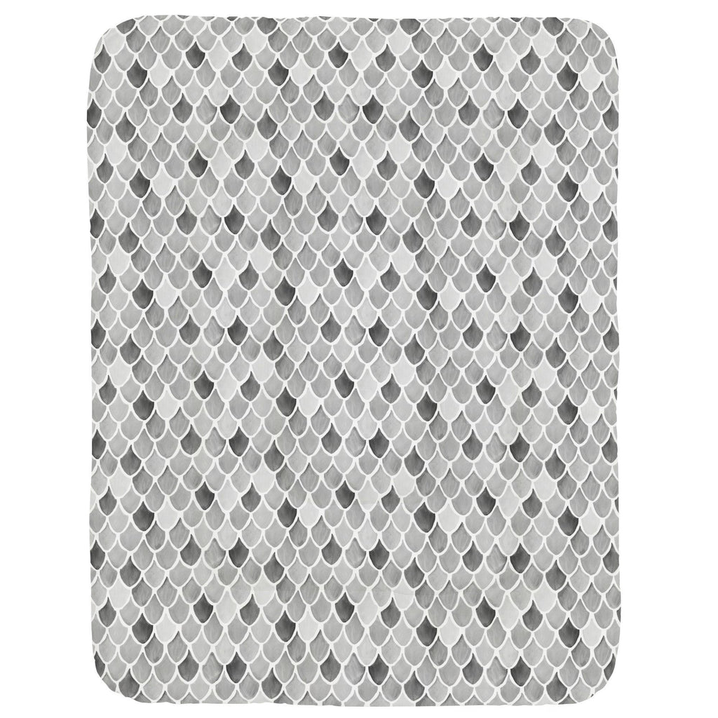 Product image for Gray Watercolor Scales Crib Comforter