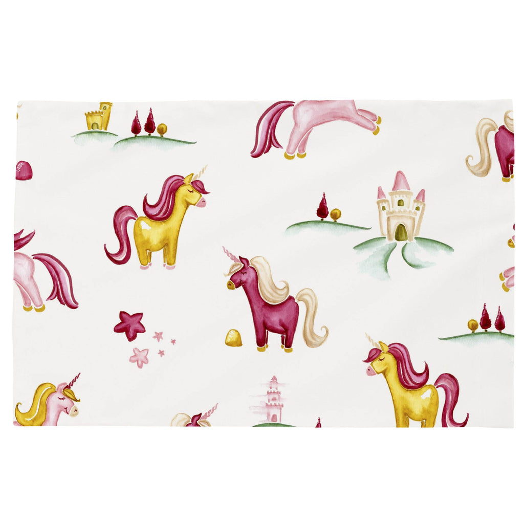 Product image for Painted Unicorns Toddler Pillow Case