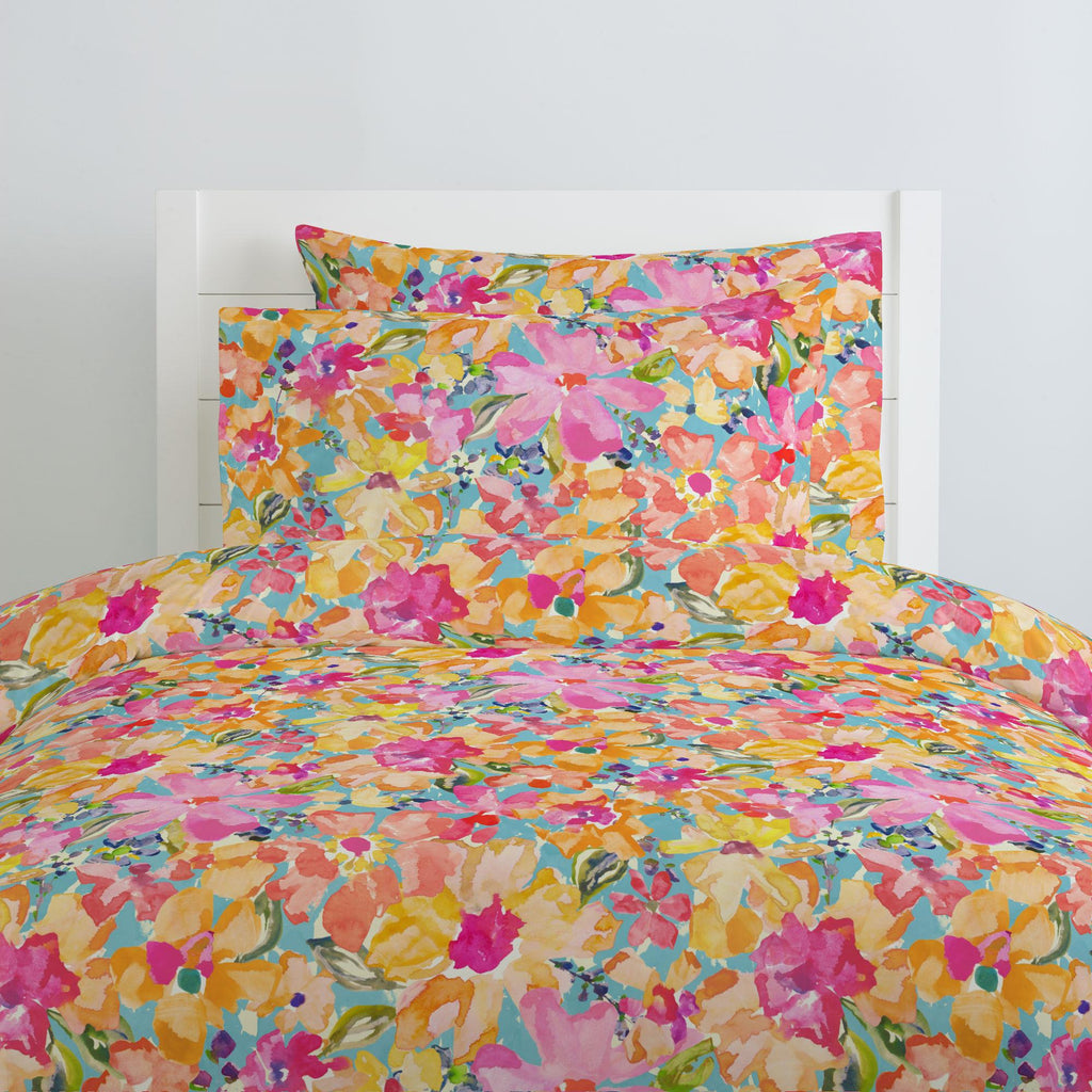 Product image for Coral Flower Bouquet Duvet Cover