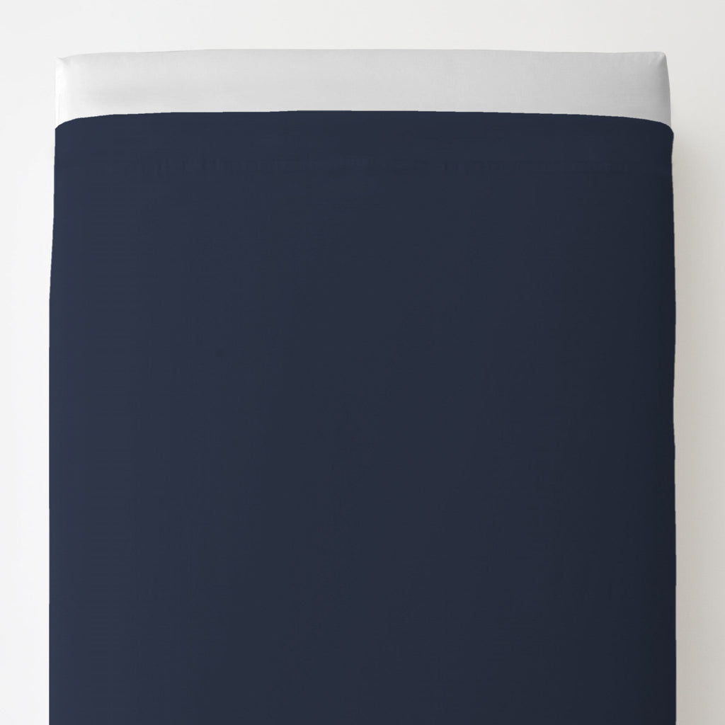 Product image for Solid Navy Toddler Sheet Top Flat