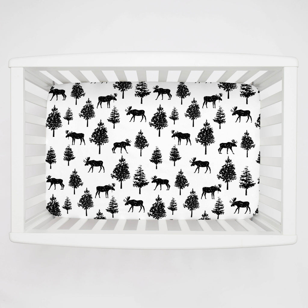 Product image for Onyx Moose Mini Crib Sheet