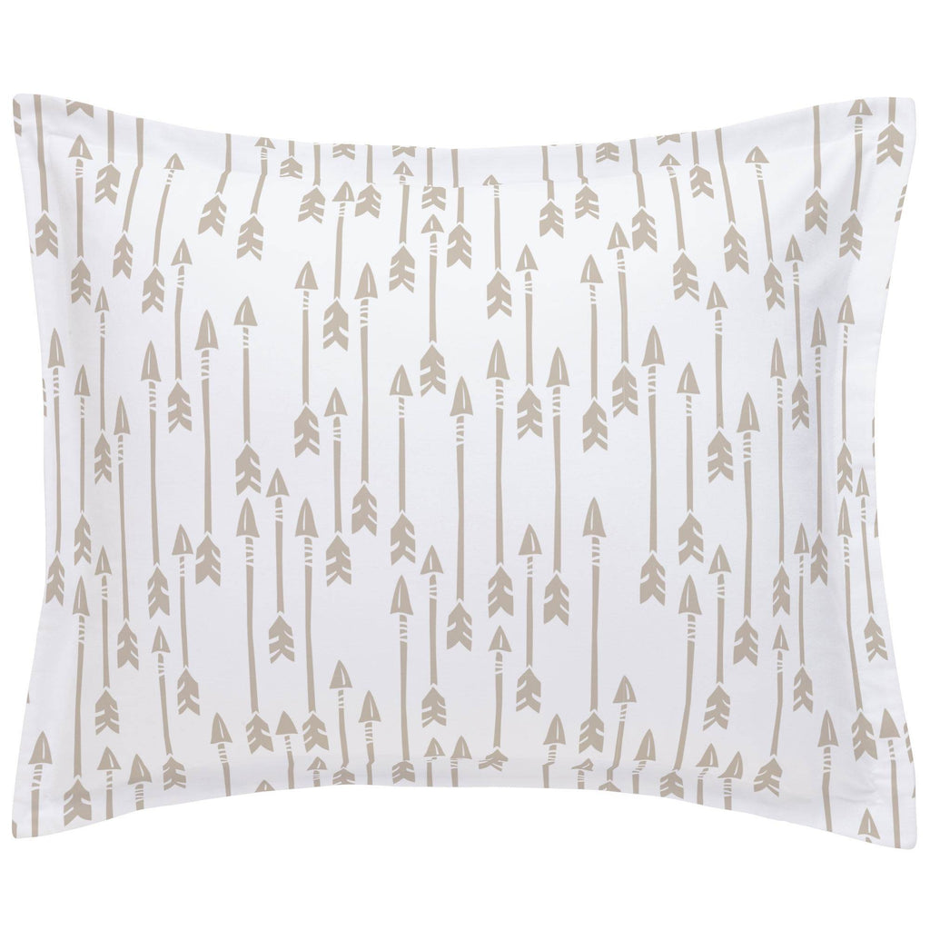 Product image for Taupe Flying Arrow Pillow Sham