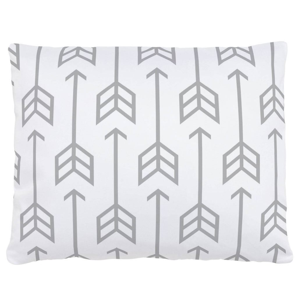 Product image for Silver Gray Arrow Accent Pillow