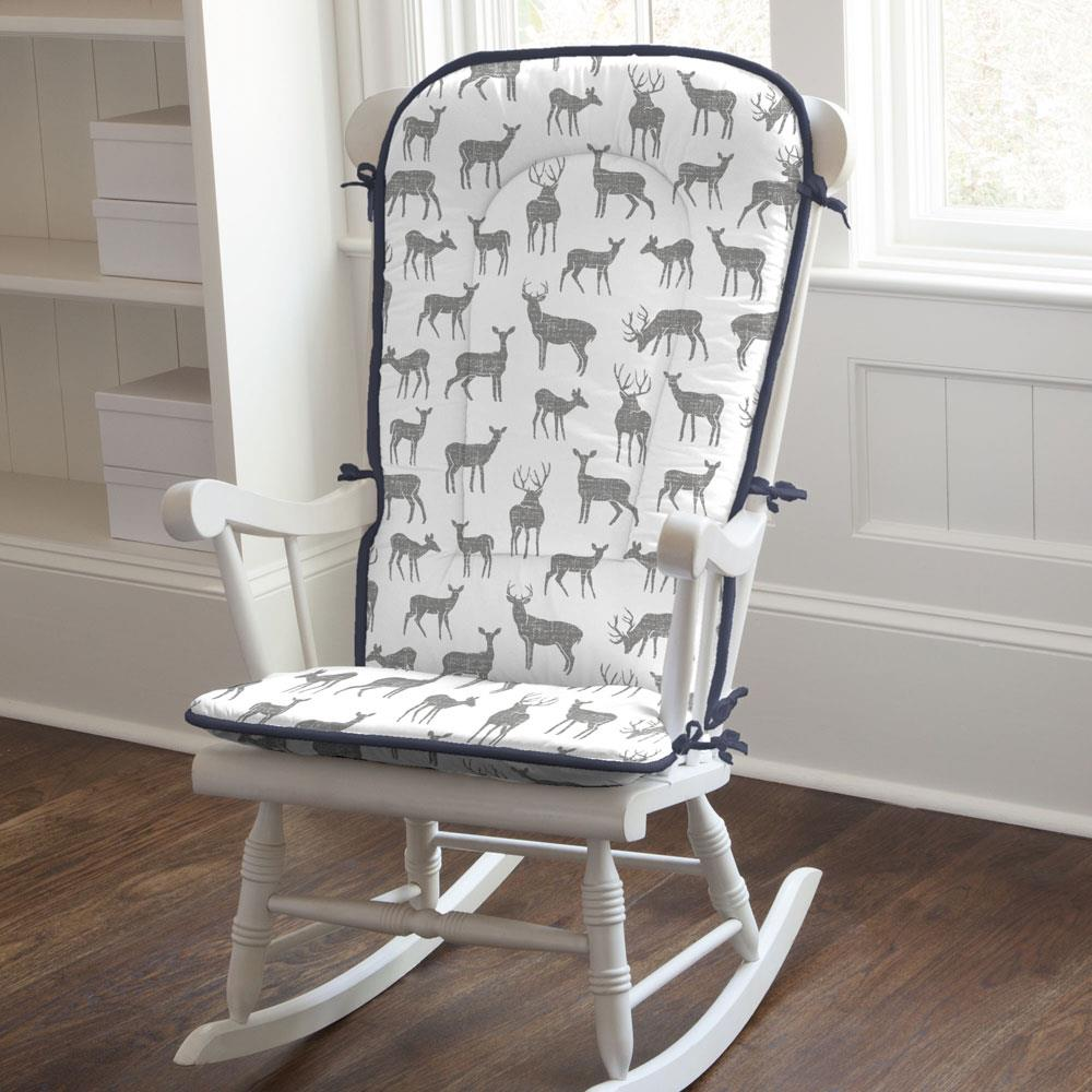 Product image for Cloud Gray Deer Rocking Chair Pad