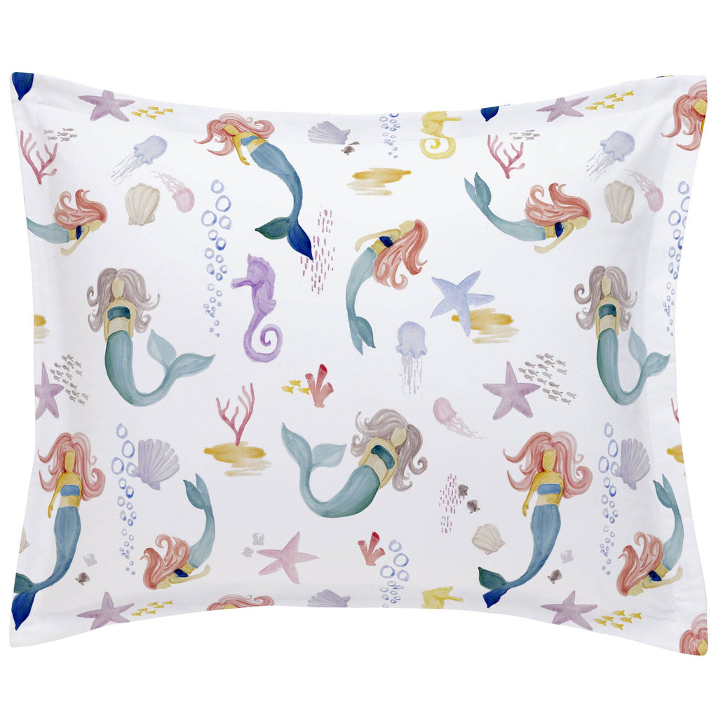 Product image for Watercolor Mermaids Pillow Sham