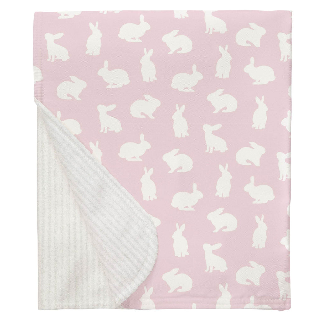 Product image for Pink and White Bunnies Baby Blanket