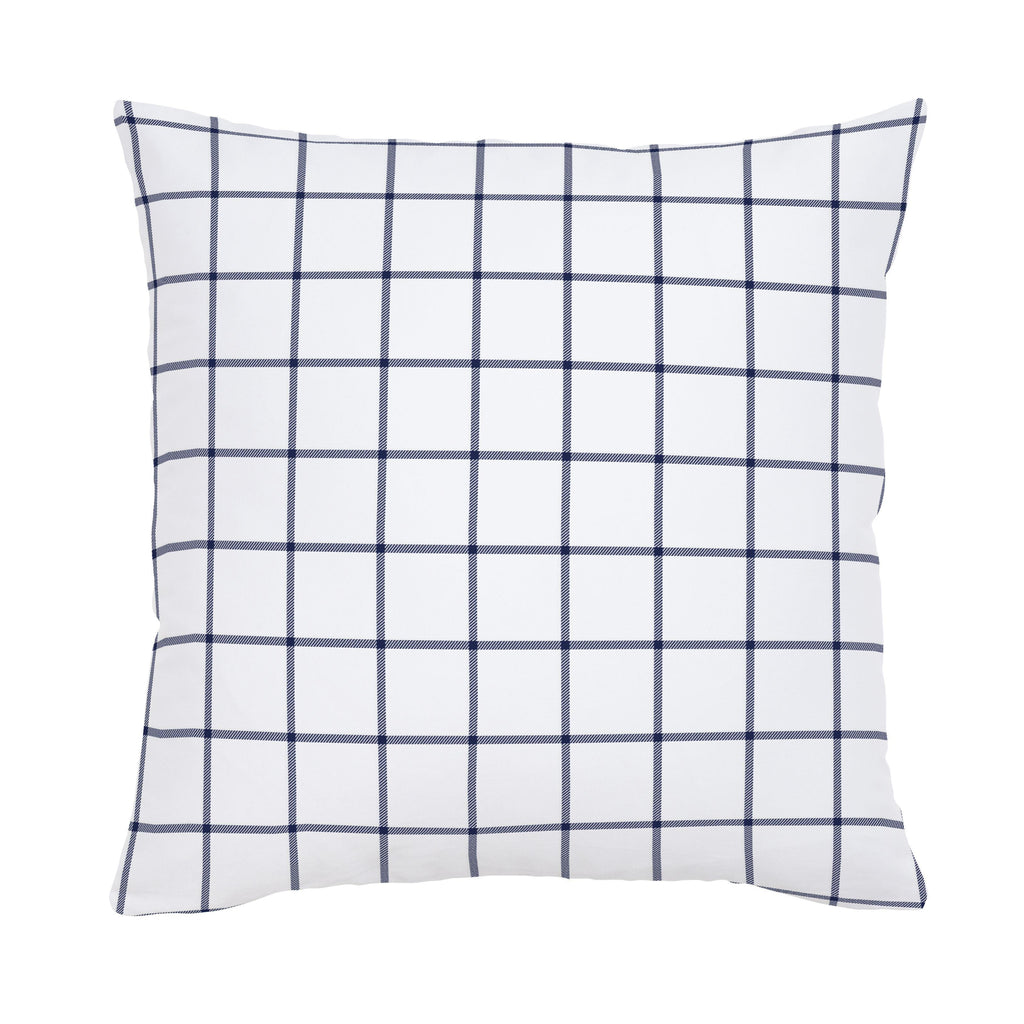 Product image for Navy Windowpane Throw Pillow